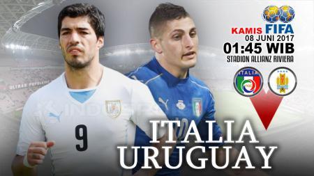 Italia vs Uruguay. - INDOSPORT