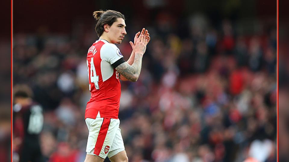 Hector Bellerin, bek sayap Arsenal. Copyright: INDOSPORT