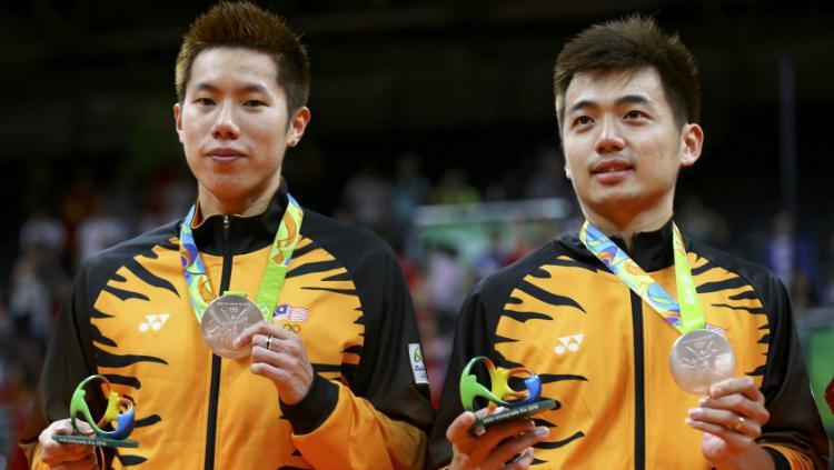 Goh V Shem/Tan Wee Kiong meraih medali Olimpiade Rio 2016. Copyright: Reuters