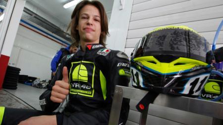 Pembalap muda asal Italia, Franco Morbidelli resmi bertahan di tim satelit Petronas Yamaha SRT, setelah sepakat untuk memperpanjang kontrak hingga MotoGP 2022, Senin (13/07/20). - INDOSPORT