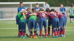 Indosport - La Masia, akademi sepak bola milik Barcelona.