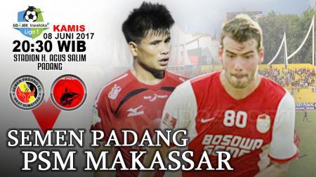 Tepat pada 8 Juni 2017 silam, mimpi buruk PSM Makassar di Stadion Gelora Haji Agus Salim (GHAS), markas milik Semen Padang terus berlanjut. - INDOSPORT