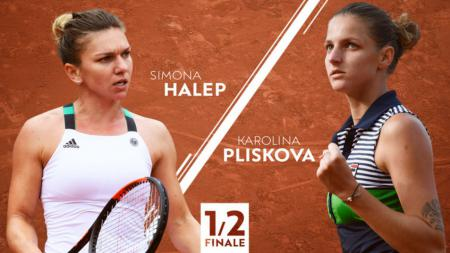 Simona Halep vs Karolina Plikova - INDOSPORT