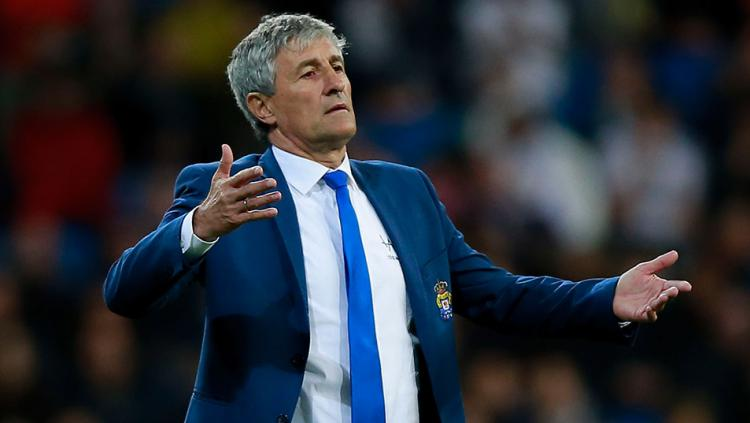 Quique Setien pelatih (Las Palmas) Copyright: getty images