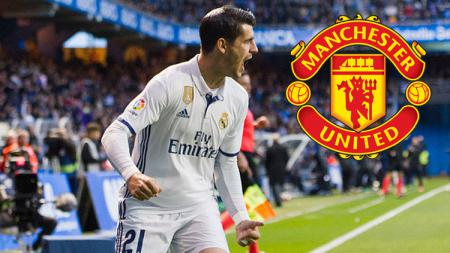 Penyerang Real Madrid, Alvaro Morata. - INDOSPORT