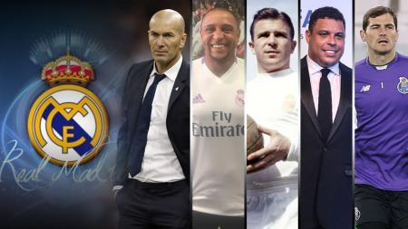 Zidane, Carlos, Puskas, Ronaldo dan Casillas. - INDOSPORT