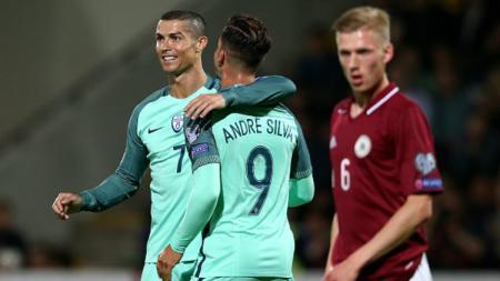 Cristiano Ronaldo pahlawan kemenangan Portugal atas Latvia. - INDOSPORT