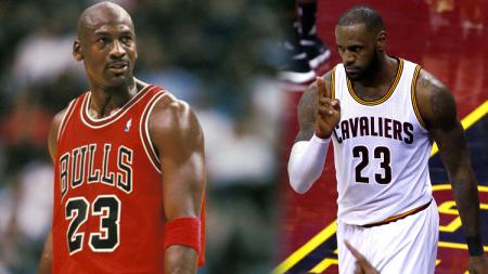 LeBron James dan Michael Jordan. - INDOSPORT