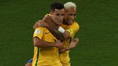 Indosport - Coutinho dan Neymar ketika memperkuat Timnas Brasil.