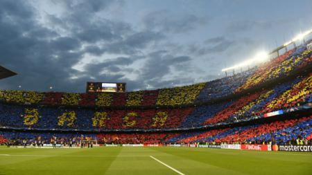 Suasana di Stadion Camp Nou. - INDOSPORT