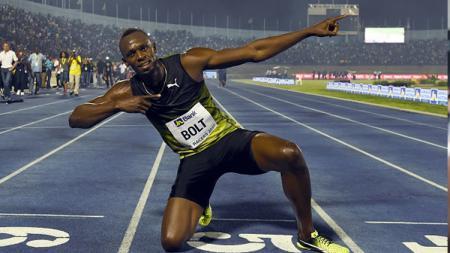 Pelari asal Jamaika, Usain Bolt. - INDOSPORT