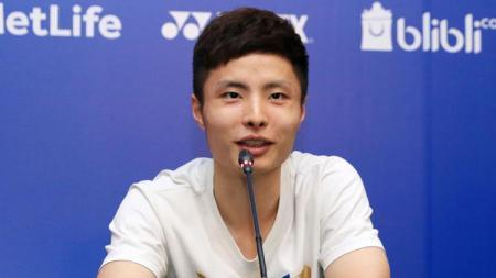Atlet Bulutangkis China, Shi Yuqi memutuskan mundur dari Kejuaraan Dunia Bulutangkis 2019. - INDOSPORT
