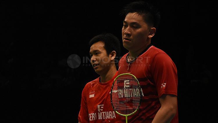 Hendra Setiawan/Tan Boon Heong di Indonesia Open 2017. Copyright: Herry Ibrahim/INDOSPORT