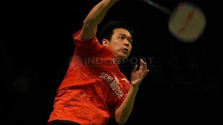 Hendra Setiawan hingga kini masih memegang rekor di Hong Kong Open, yang berpeluang disamai oleh Kevin Sanjaya/Marcus Gideon. - INDOSPORT