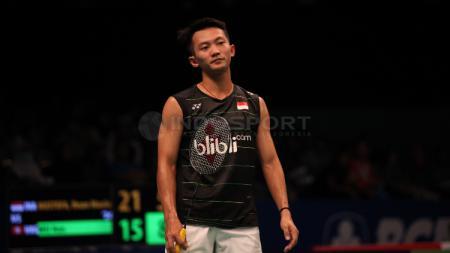 Pebulutangkis tunggal putra Indonesia, Ihsan Maulana Mustofa harus menuai hasil buruk di babak kedua turnamen bulutangkis Akita Masters 2019 Super 100. - INDOSPORT