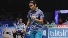 Indosport - Gregoria Mariska di babak kualifikasi Indonesia Open 2017.