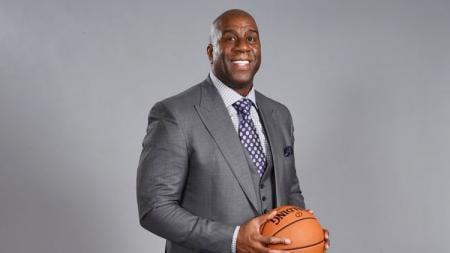 Legenda Los Angeles Lakers, Magic Johnson. - INDOSPORT