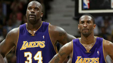 Kobe Bryant dan Shaquille O'Neal. - INDOSPORT