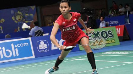 Dinar Dyah Ayustine di babak pertama Indonesia Open 2017. - INDOSPORT