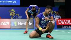 Indosport - Edi Subaktiar/Gloria Emmanuelle Widjaja di babak pertama Indonesia Open 2017.