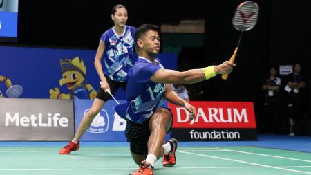 Edi Subaktiar/Gloria Emmanuelle Widjaja di babak pertama Indonesia Open 2017. - INDOSPORT