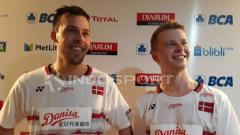 Indosport - Ganda Putra asal Denmark, Kim Astrup/Anders Skaarup Rasmussen.