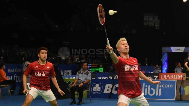 Kevin dan Marcus Copyright: Herry Ibrahim/Indosport