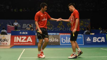 Hendra setiawan dan Tan Boon Heong. - INDOSPORT