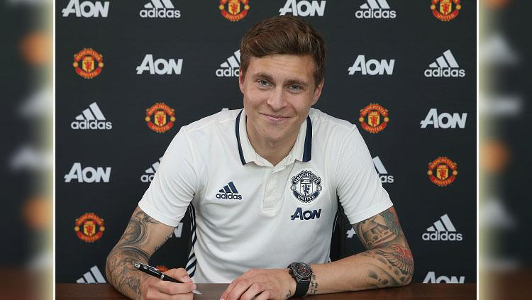 Pemain belakang Manchester United, Victor Lindelof. Copyright: Getty Images