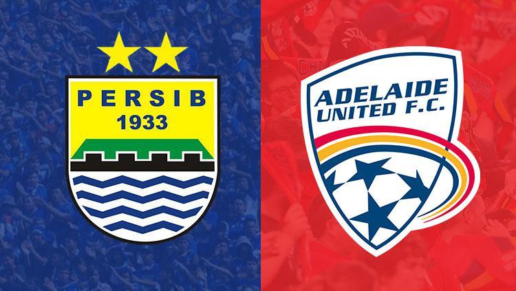Logo Persib Bandung dan Adelaide United. Copyright: INDOSPORT
