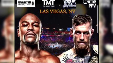 Floyd Mayweather vs Conor McGregor. - INDOSPORT