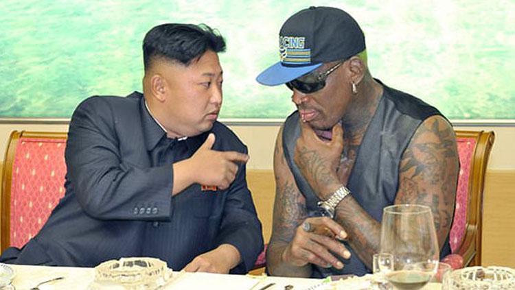 Dennis Rodman dan Kim Jong-un. Copyright: dailymail.co.uk