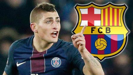 Marco Verratti dikabarkan akan menjadi pemain Barcelona untuk menggantikan Iniesta. - INDOSPORT
