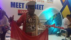 Indosport - Salah satu penonton Indonesia Open 2017, Hariyanto.