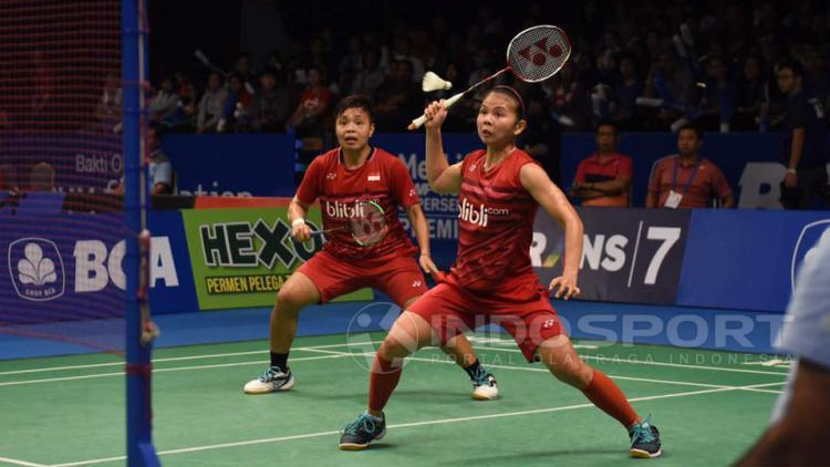 Greysia Polii dan Apriani Rahayu Copyright: Herry Ibrahim/Indosport.com