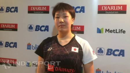 Akane Yamaguchi usai laga di babak kedua Indonesia Open 2017. - INDOSPORT
