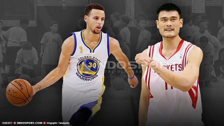 Stephen Curry dan Yao Ming. - INDOSPORT
