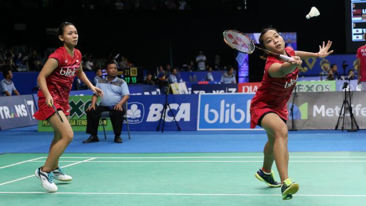 Della Destiara Haris/Rosyita Eka Putri Sari sukses merebut tiket perempatfinal Indonesia Open 2017. Copyright: PBSI
