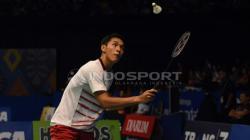 Jonatan Christie di babak kedua Indonesia Open 2017.