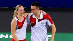 Indosport - Gabrielle dan Chris Adcock.