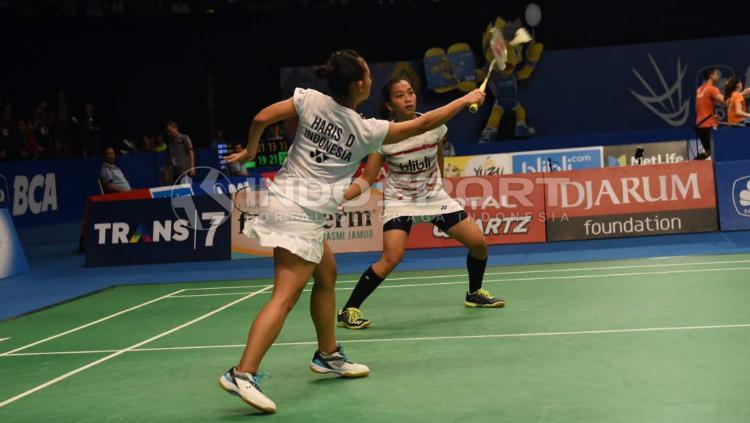 Della Destiara Haris/Rosyita Eka Putri Sari di perempatfinal Indonesia Open 2017. Copyright: Herry Ibrahim/INDOSPORT
