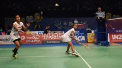 Indosport - Della Destiara Haris/Rosyita Eka Putri Sari di perempatfinal Indonesia Open 2017.