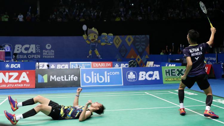 Fajar Alfian/Muhammad Rian Ardianto di perempatfinal Indonesia Open 2017. Copyright: Humas PBSI