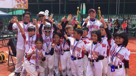 Timnas Bisbol U-9 meraih peringkat 2 di Kejuaraan Asia Pasifik. - INDOSPORT