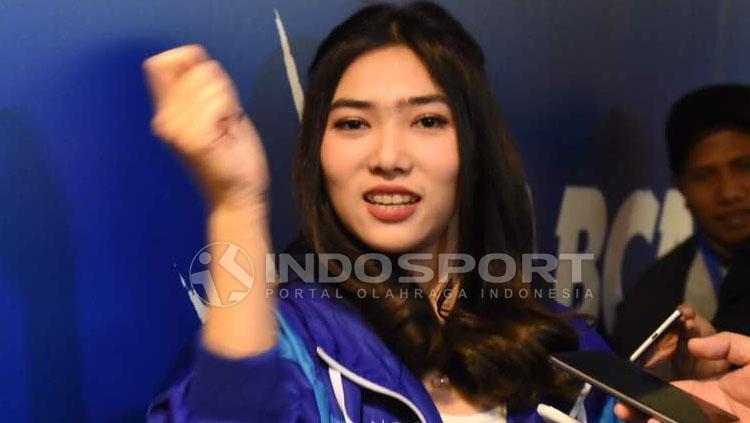 Isyana Sarasvati ketika datang ke Indonesia Open 2017. Copyright: Herry Ibrahim/Indosport.com