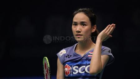 Nitchaon Jindapol terlihat cantik sepanjang pagelaran BCA Indonesia Open 2017. - INDOSPORT