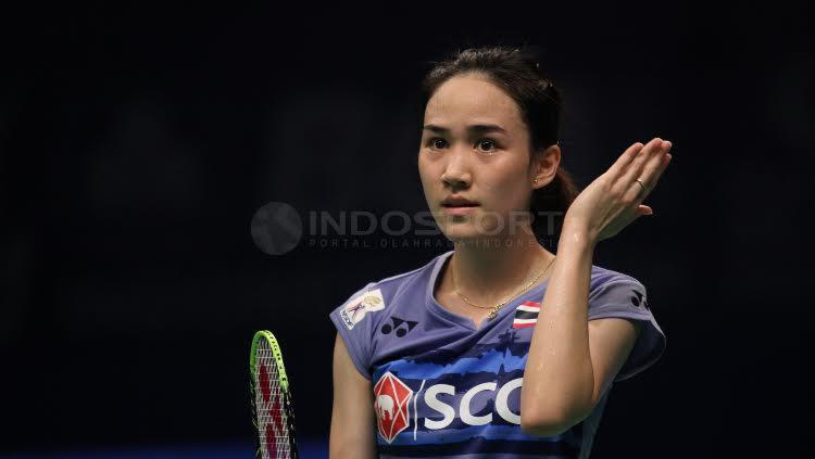 Nitchaon Jindapol terlihat cantik sepanjang pagelaran BCA Indonesia Open 2017.