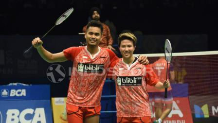 Tontowi Ahmad/Liliyana Natsir di final Indonesia Open 2017.