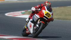 Indosport - Dimas Ekky saat di FIM CEV Moto2