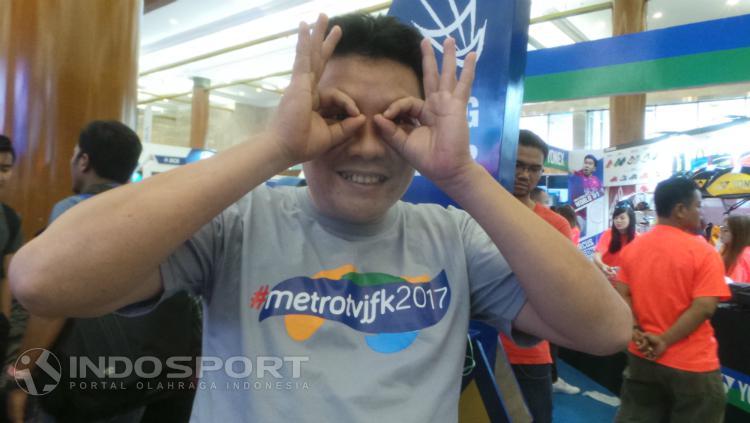 Johan, penonton indigo di Indonesia Open 2017 Copyright: Lanjar Wiratri/INDOSPORT
